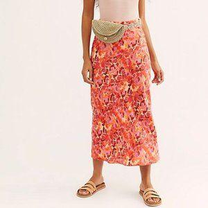 Free People Normani Bias Midi Skirt, size 2